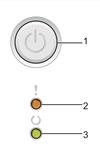 Зеленая и оранжевая (красная) лампочки, огоньки и единственная кнопка GO на панели управления принтера Brother HL-1110R HL-1112R HL-1200R HL-1210WR HL-1212WR